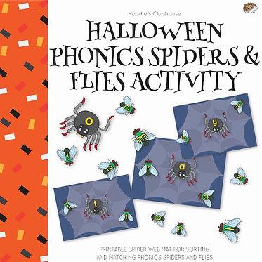 Halloween Phonics Alphabet Matching Activity