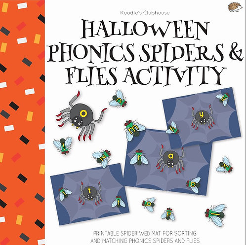 Halloween Phonics Alphabet Matching Activity