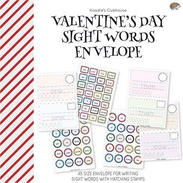 Valentine's Day Sight Words Envelope