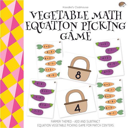Vegetable Math Equation Picking Game