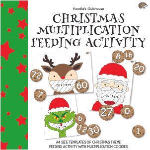 Christmas Multiplication Feeding Activity