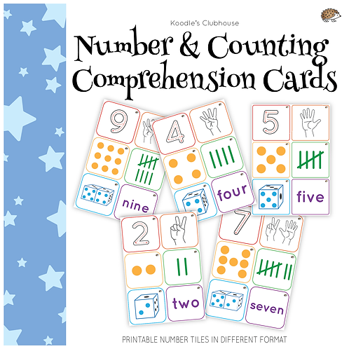 Number comprehension cards