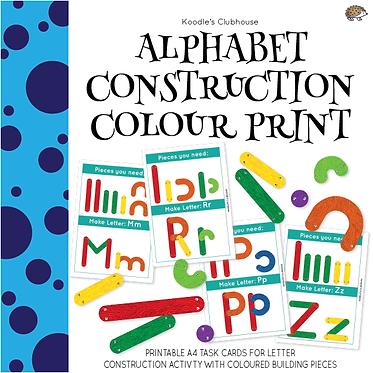 Alphabet Construction Color Print