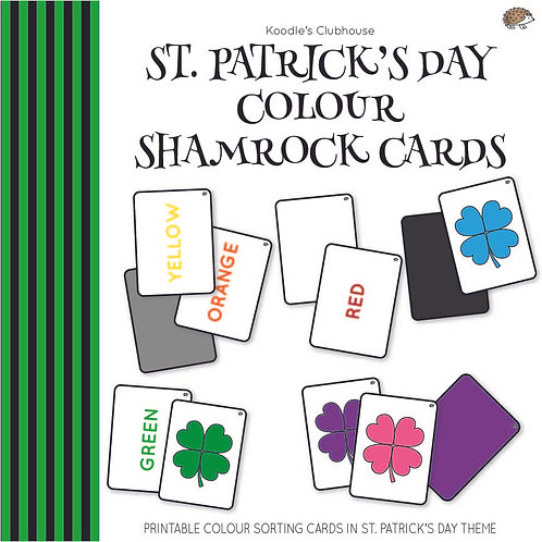 St. Patrick's Day Colour Sorting Shamrock Cards