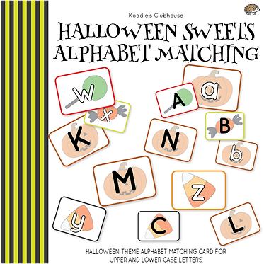 Halloween Sweets Alphabet Matching