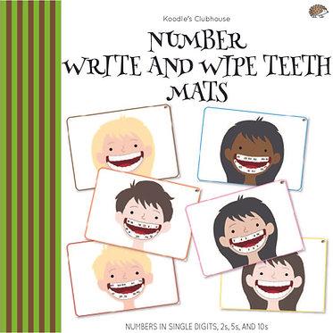 Numbers Write and Wipe Teeth Mats
