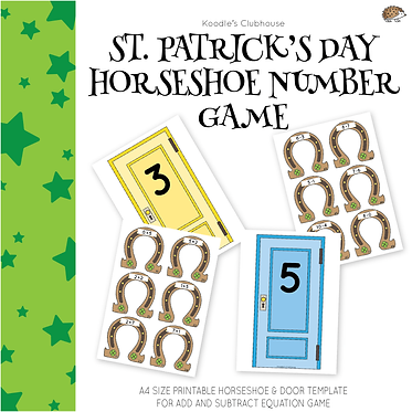 St.Patrick's Day Add and Subtract Equation Game