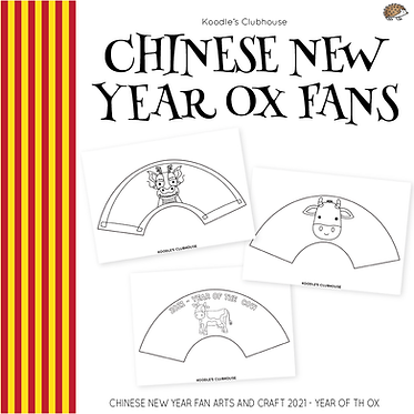 Chinese New Year Ox Fans