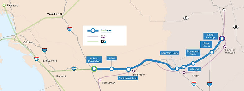 Valley Link Alignment Map