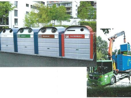 Projet d'un écopoint commun et d'une déchetterie mobile sur la place de détente