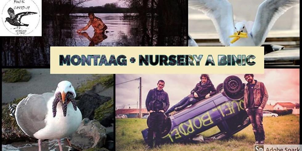 Montaag + Nursery vont faire le Rock à Binic