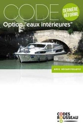 Code Rousseau Option «eaux intérieures»