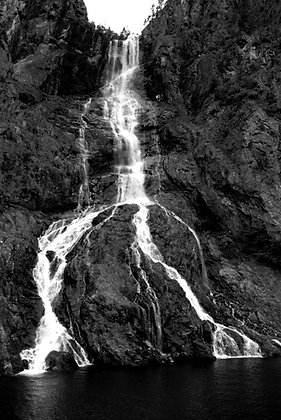 Waterfall on the Fjord - B119