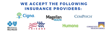 we accept the following insurance provid