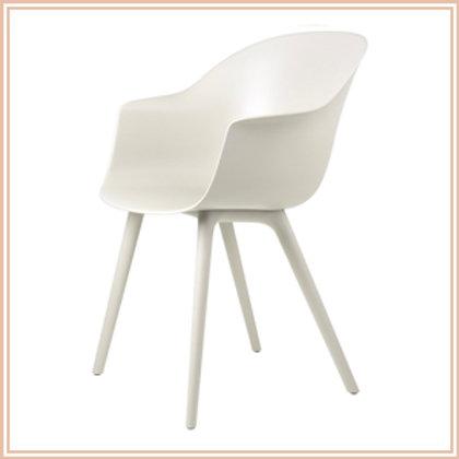 Bat Dining Chair, Outdoor, Alabaster White