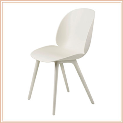 Beetle Dining Chair, Outdoor, Alabaster White