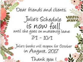 Julie's Books are now Closed until October