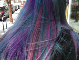 Rainbow hair fade and update