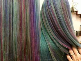 Rainbow hair love!