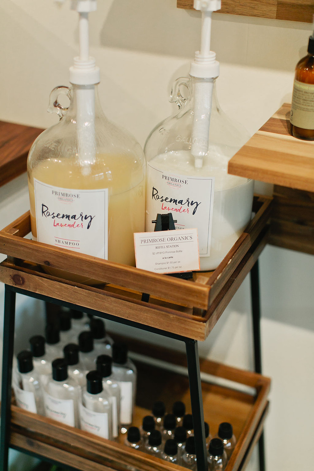 We love offering amazing products and try to cut back on waste where ever we can. We now stock a store favorite, Primrose Organics, in bulk! Bring in your empty Primrose (or any 8 oz bottle) shampoo or conditioner bottle to refill and get $2 off retail price per bottle.Fill your travel bottles before you head out for a trip or simply try it first by purchasing by the ounce a la carte!
