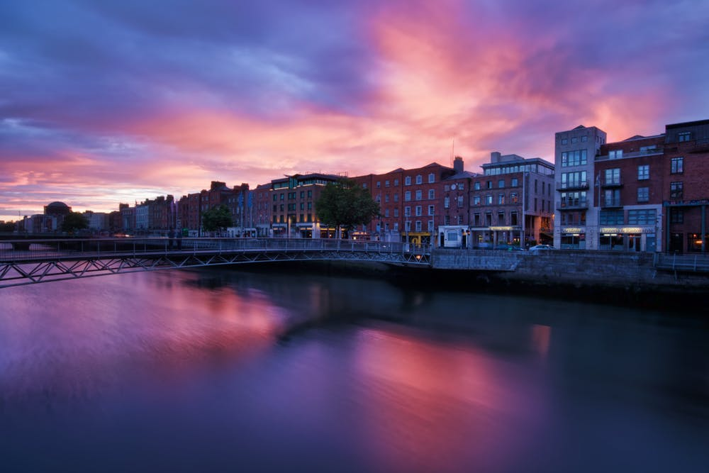 Dublin City on the river Liffey
