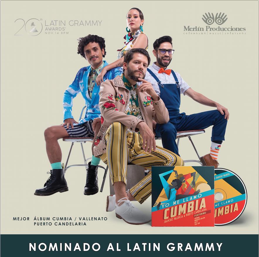 Puerto Candelaria nominado a los Latin Grammy 2019 en la categoria Cumbia Vallenato