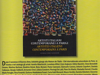 The artist Lucan Vittorio Vertone, exhibited in Paris from May 18 to 25 at the Maison de l'Itali