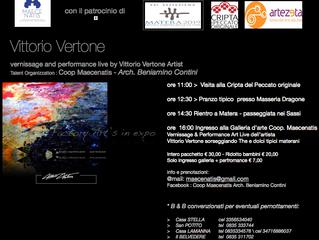 9 marzo 14  pm 16:00 performance live MATERA SASSI > coop Maecenatis