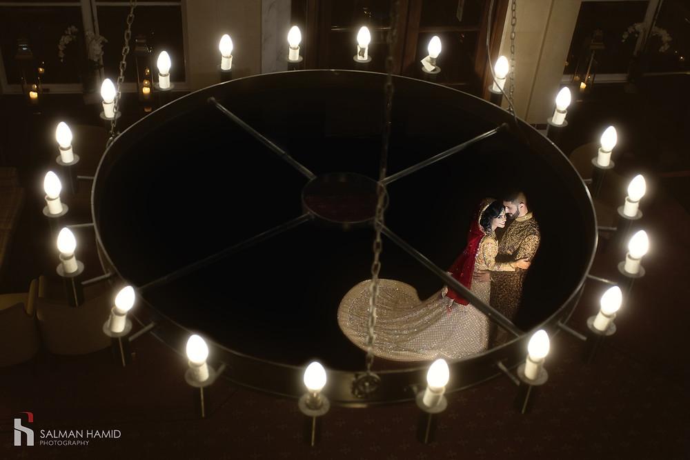 Asian wedding photography at Oatlands Park Hotel