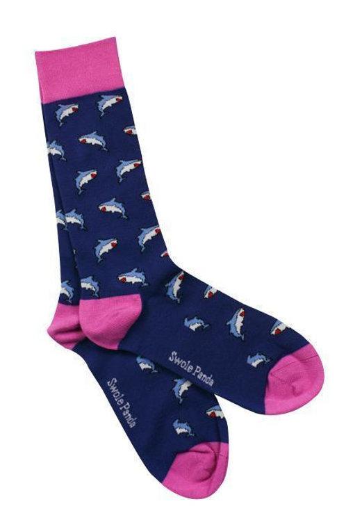 Swole Panda Ladies Bamboo Socks -Shark