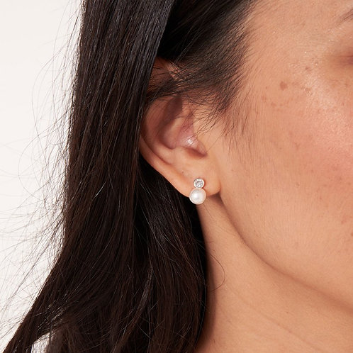 PEARL CRYSTAL EARRING - HAPPY EVER AFTER BRIDAL JE