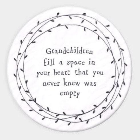 Leaf Porcelain Coaster - Grandchildren