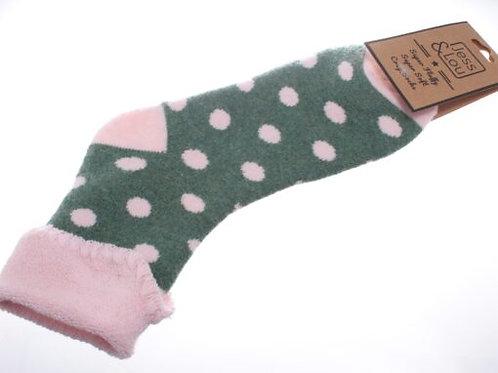 Jess & Lou Cosy Cuff Socks - Green