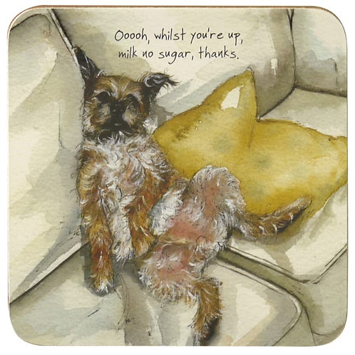 Border Terrier Coaster – Milk No Sugar