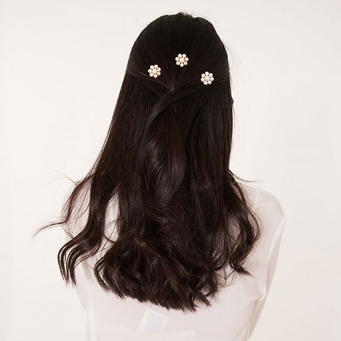 PEARL FLOWER HAIR PINS- HAPPY EVER AFTER BRIDAL JE
