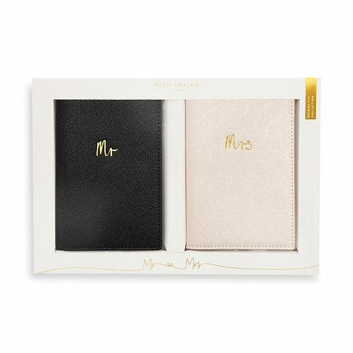 Passport Cover Gift Set - Mr & Mrs