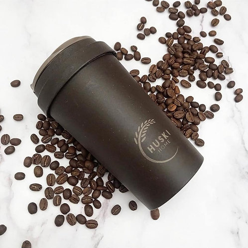 Eco-friendly coffee husk travel cup in coffee- 400ml
