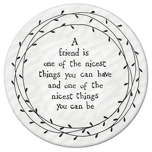 Leaf Porcelain Coaster - A Friend