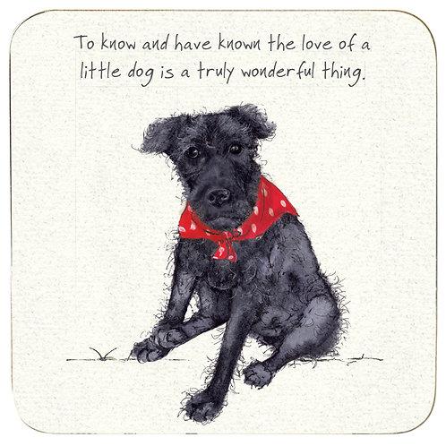 Patterdale Terrier Coaster – Little Dog
