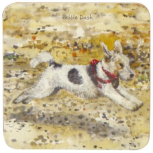 Fox Terrier Coaster – Pebbledash