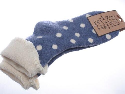 Jess & Lou Cosy Cuff Socks - Blue