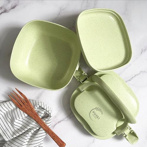 Multi-compartment lunch box -Pistachio