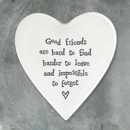 Porcelain Coaster - Good Friends