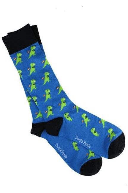 Swole Panda Mens Bamboo Socks -T Rex