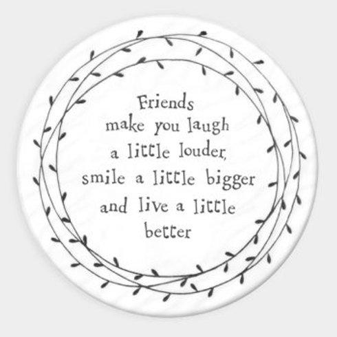 Leaf Porcelain Coaster - Friends