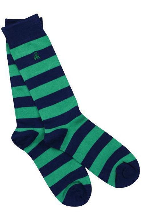 Swole Panda Mens Bamboo Socks - Lime Green