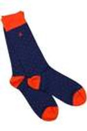 Swole Panda Ladies Bamboo Socks -Spotted Orange