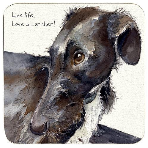 Lurcher Rescue Coaster – Look of Love