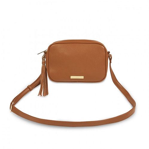 Sophia Tassel Crossbody Bag - Cognac