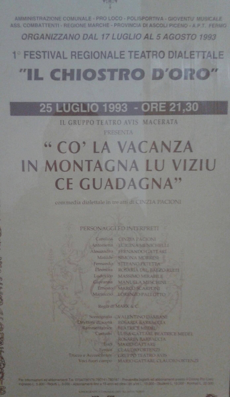 manifesto VACANZE